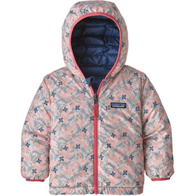 Patagonia Reversible Down Sweater Hoody Baby Kids, woodland floral/prima pink